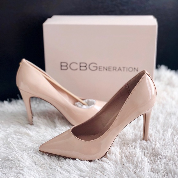 b56e855a48b ✨New BCBGENERATION Heidi Patent Faux Leather Pumps NWT